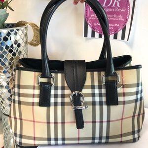 Burberry Nova Check Satchel Handbag